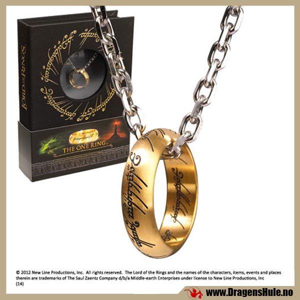 Anheng: Maktens Ring fra Ringenes Herre -Rustfritt stål fra DragensHule. Om denne nettbutikken: http://nettbutikknytt.no/dragens-hule-no/