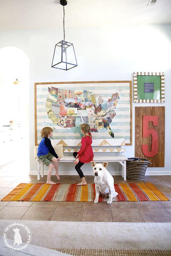 diy map: the handmade home art book challenge-the handmade home