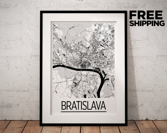 Hey, I found this really awesome Etsy listing at https://www.etsy.com/listing/226460908/bratislava-map-poster-slovenia-map-print