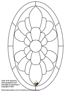 free stained glass patterns | Free stained glass patterns/oval baroque detail free pattern - A4 Etc ...