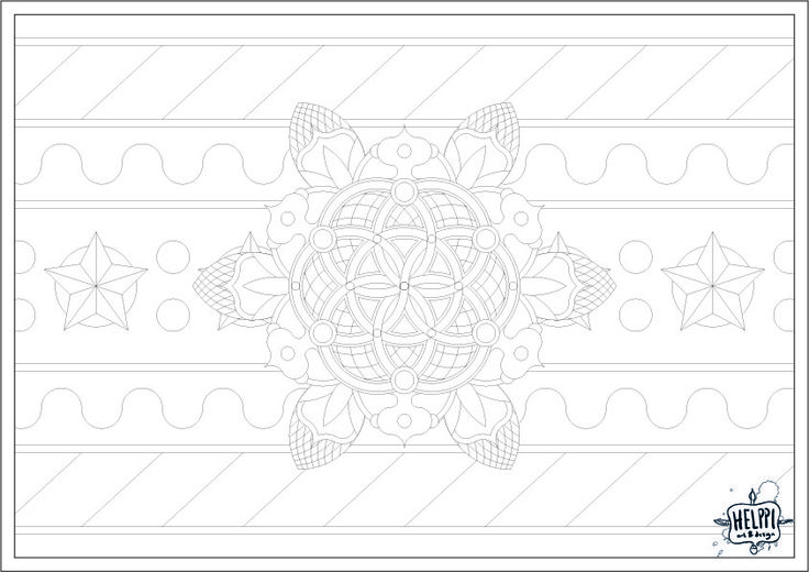 """Colouring Christmas Calendar day 18! A bit more simple image this time, with the """"seed of life"""" pattern at it's center. Looks quite Christmasy, and is one of the images that would work as a Christmas ornament too. Link to the PDF: https://drive.google.com/open?id=0B2hOsgD06RP4TTdvQjZ0TURibmM"""