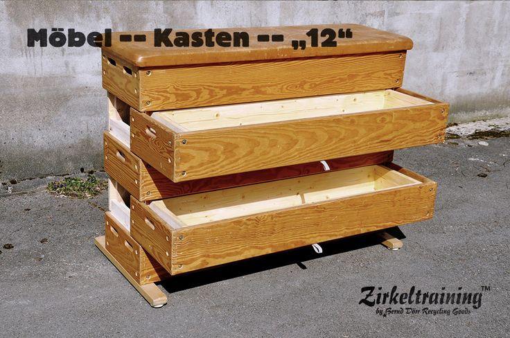 Kasten, Pferd oder Bock Zirkeltraining™ stellt Dir auch  -> Vintage Möbel Upcycling