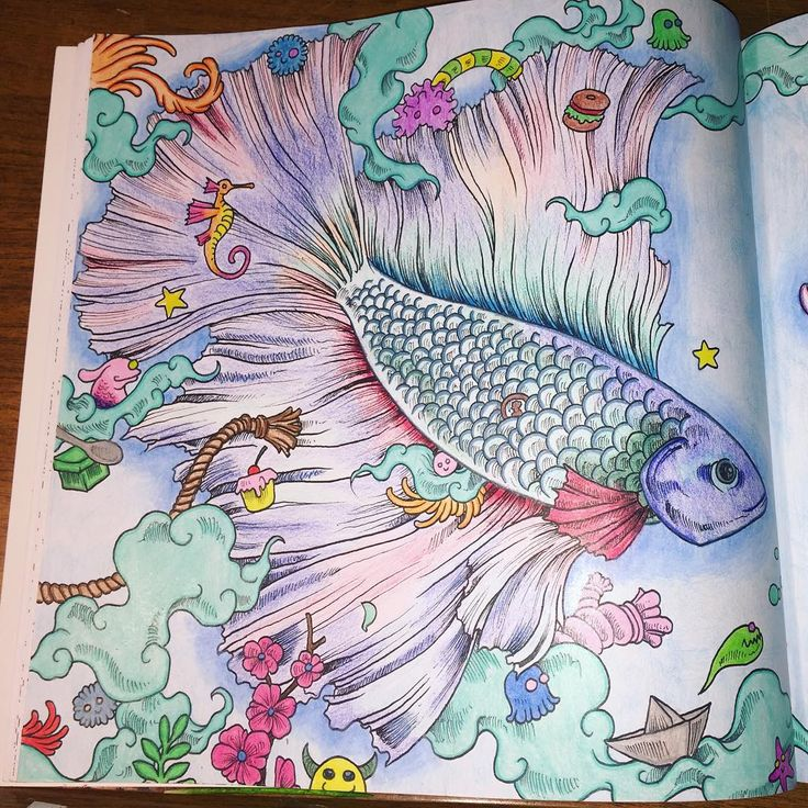 Finally Finished Animorphia Adultcoloring Adultcoloringbook Kerbyrosanes Betta Creatures