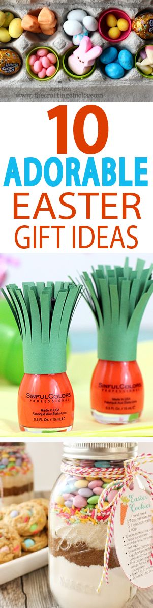 These little Easter gift ideas are perfect for a hostess gift, a neighbor treat, or a little something extra from the Easter bunny. Healthy snacks and non food gifts too!
