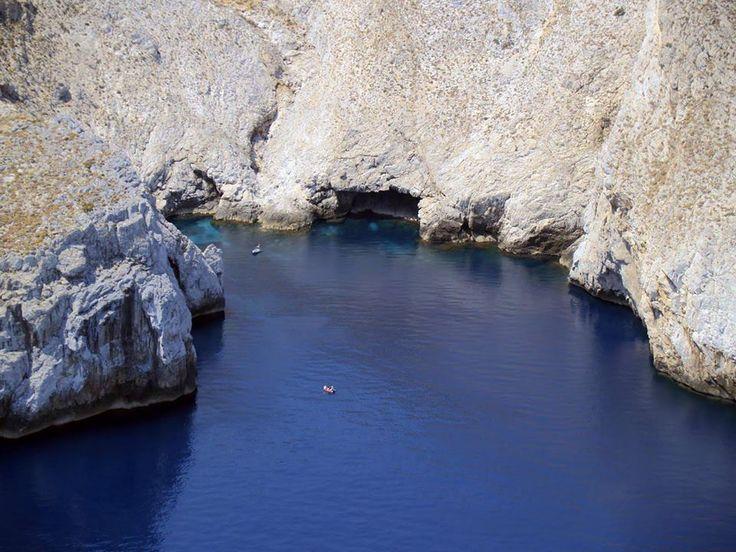 crystal clear blue south of skyros