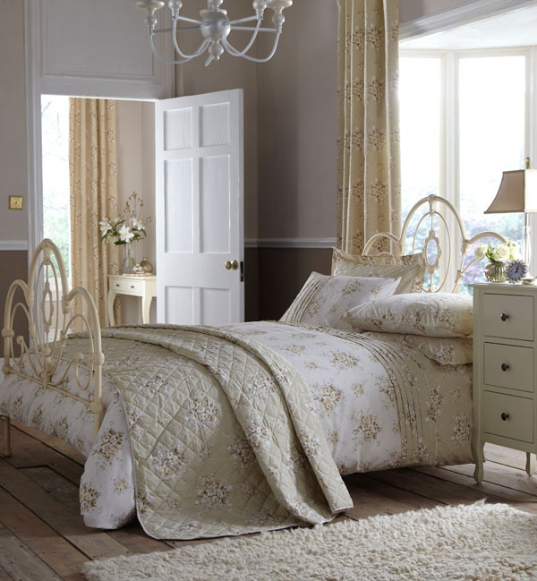 Natural Vanessa Collection Duvet Cover #bed #duvet #home #dunelm from £19.99