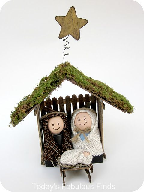 Craft Stick and Clay Pot Children's Nativity Set Tutorial on Today's Fabulous Find at http://todaysfabulousfinds.blogspot.com/2011/11/craft-stick-and-clay-pot-childrens.html