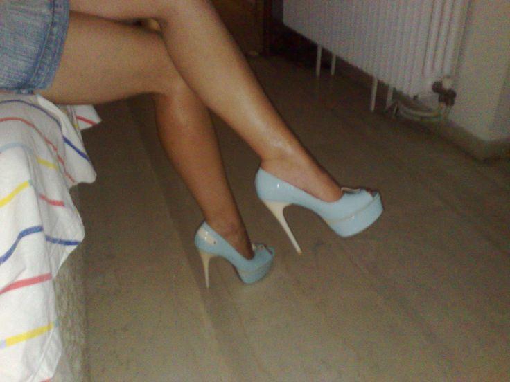 Dress2Impress by Ioanns  Giamouridis , Aqua heels ,love them