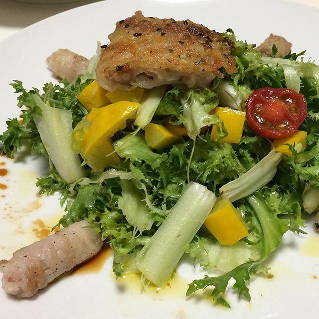#豚バラ#ミルフィーユ#ロール#サラダ#ヴィネグレット#豚肉#肉#野菜#自作#おうちごはん#男料理#porkbackribs#millerlite#roll#salad#vinaigrette#pork#meat#vegetableshomemade#good#instafood#gourmet#delicious#love#mancooking#food#foodie#foodporn#foodgasm