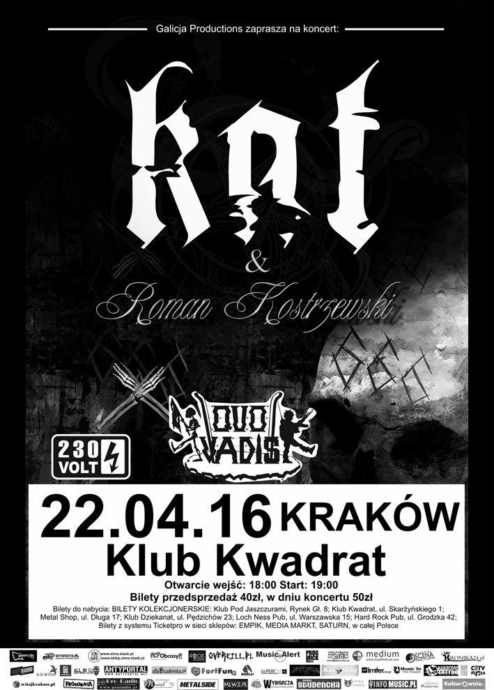 Relacja z krakowskiego koncertu KAT & Roman Kostrzewski: https://web.facebook.com/heavymetalmusicandmore/