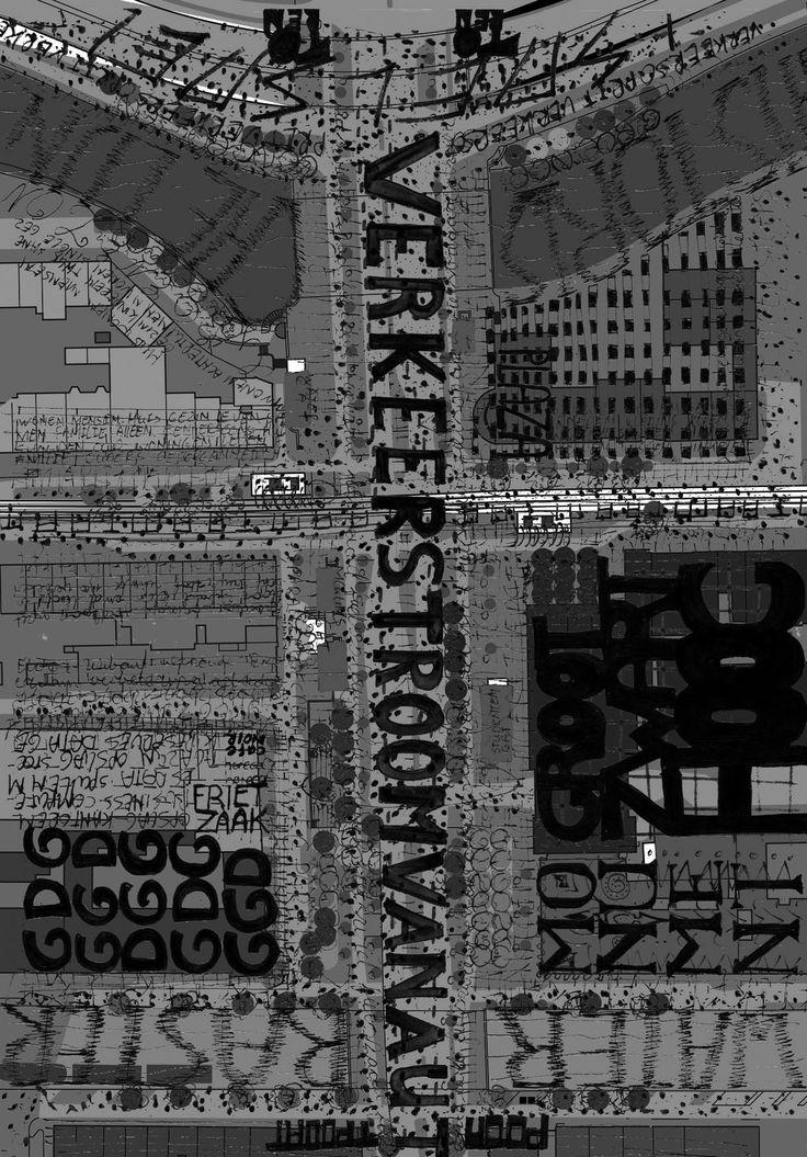 Analysemethode die typografie en esthetiek combineert en daarmee het gevoel van het plein goed weergeeft. # Inge Vleemingh