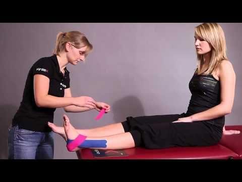 Kineso Tape, Kinesiologie Tape bei Schmerzen im Sprunggelenk - YouTube