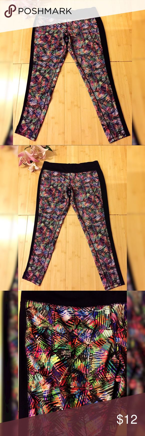 """Cute Colorful Workout Pants! In good condition! Hip to bottom is 35.5"""". Crotch to bottom is 29"""". Waist is 37.5"""". Mossimo Supply Co. Other"""