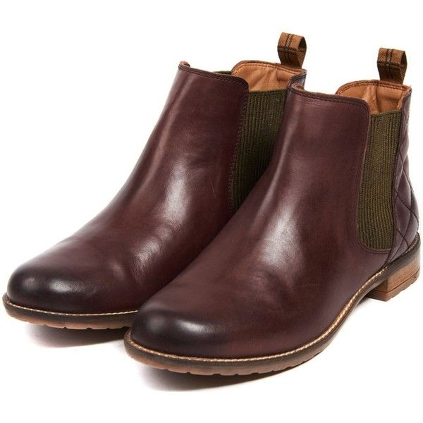 Women's Barbour Abigail Chelsea Boot - Wine (£130) ❤ liked on Polyvore featuring shoes, boots, ankle booties, chunky chelsea ankle boots, beatle boots, wine booties, tartan boots and barbour boots