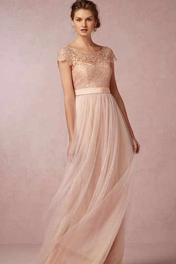 Classic A-Line Cap Sleeve Bateau Lace Pleated Zipper Tulle Floor-Length Bridesmaid Dresses