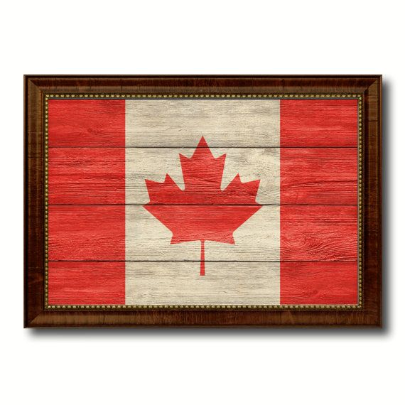 Canada Flag Old Wood Vintage Style Custom Made by AllChalkboard