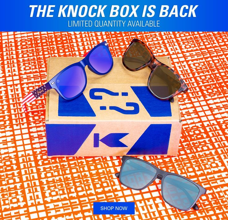 Knock Box is back – mystery box from Knockaround Sunglasses.   Knock Box: Knockaround Sunglasses Mystery Box Available Now! →  http://hellosubscription.com/2017/07/knock-box-knockaround-sunglasses-mystery-box-available-now-2/ #KnockBox #Knockaround  #subscriptionbox