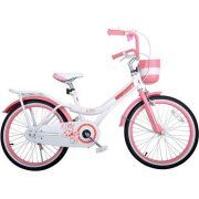 Royalbaby Jenny Princess Pink Girl's Bike with Training Wheels and Basket, Perfect Gift for Kids, 20 inch wheels