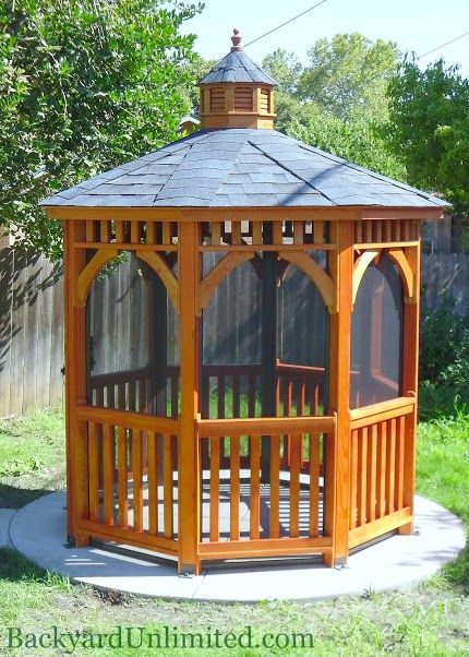 68 best images about amish built gazebos on pinterest for Built in gazebo