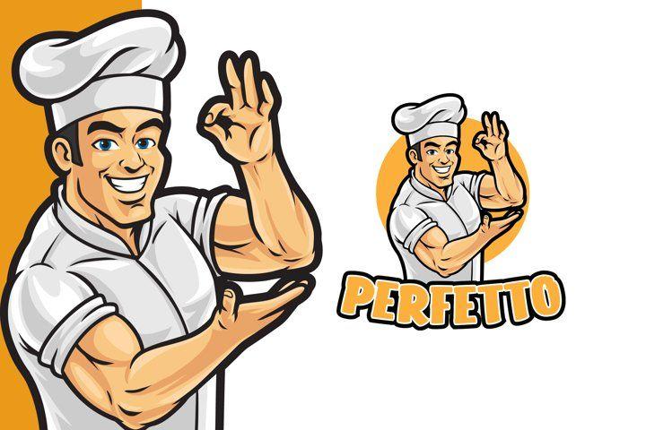 Healthy Chef Logo Template 804252 Logos Design Bundles Chef Logo Logo Templates Logo Design
