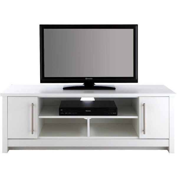 Consort Mono Ready Assembled Low Tv Unit (Fits Up To 52 Inch Tv) ($175) ❤ liked on Polyvore featuring home, furniture, storage & shelves, entertainment units, metal shelf, adjustable storage shelves, metal shelving, dvd storage shelves and adjustable shelving