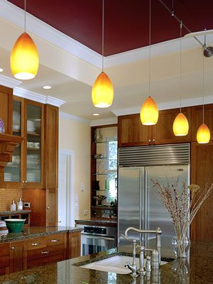 Kitchen with tech lighting 700 firf firefrost pendants murano glass with frosted or case glass interior