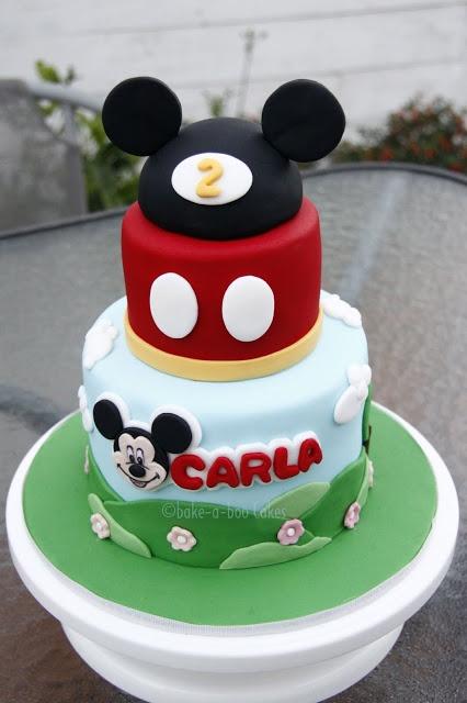 Un simpatico Topolino torta tema