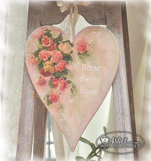 decoupage heart