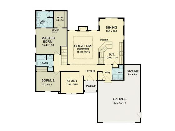 1 Story Ranch 2 Bedrooms 2 Bathrooms Study 2 Car