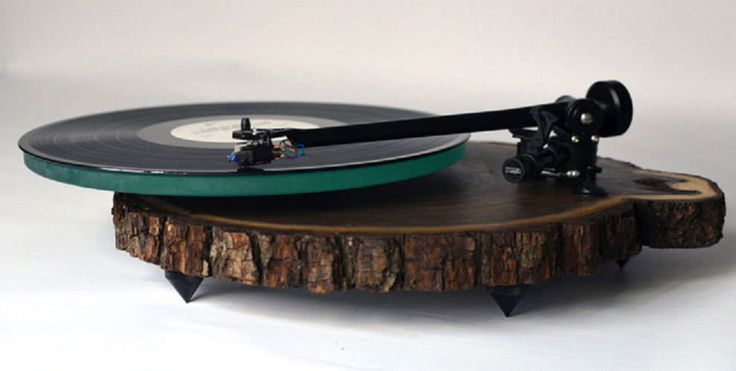 Featured Image for Father and son team creates gorgeous turntables from the cross-section of trees