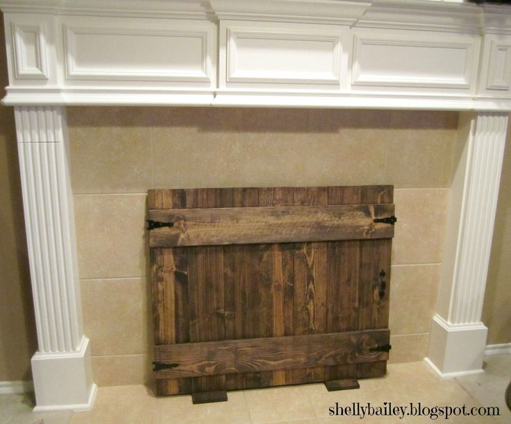 homemade faux fireplace | Handmade Fireplace Cover - DIY Faux Gate