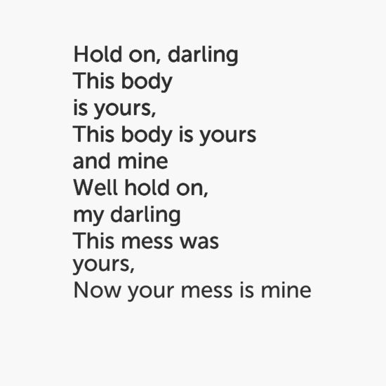 Your Mess Is Mine. Vance Joy