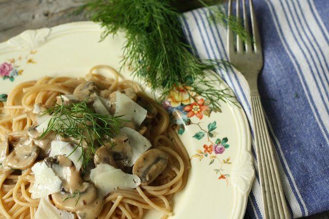 Sweet Pauls Mushroom and Dill Pasta