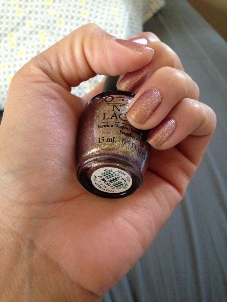 The beautiful rose-gold nail polish I wore... It matched perfectly with my wedding colors