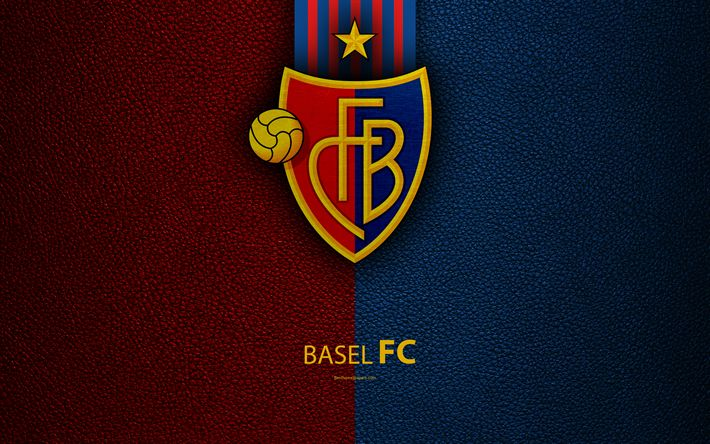 Download wallpapers Basel FC, 4k, football club, leather texture, Basel logo, emblem, Swiss Super League, Basel, Switzerland, football