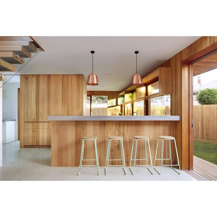 Fenwick House by Julie Firkin Architects featuring our copper Cooper pendants