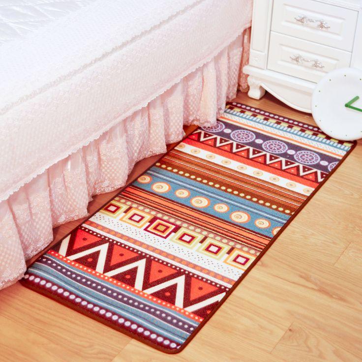 Европейский творческий простой и стильный геометрический огород Этническая спальня прикроватные одеяло тонкий ковер коврики коврики - Taobao