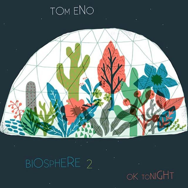 out today! New music from the super @tomenopic .... Go check it out, it's really great! ... Oh and i did the artwork for it   https://m.soundcloud.com/tom-eno/sets/biosphere-2-ep  #tomeeno #music #biosphere2 #oktonight #cacti #illustration