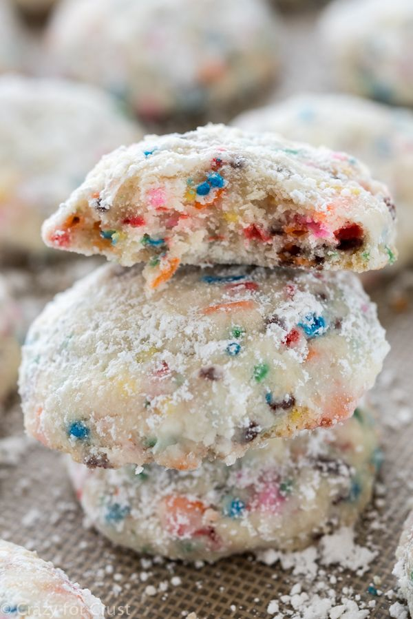 Easy Funfetti Cake Batter Wedding Cookies