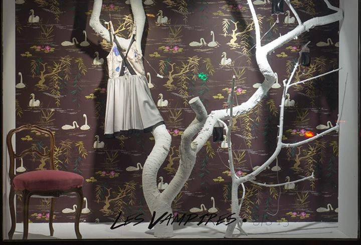 Spring/Summer '13 Collection, Les Vampires - Window Display at EVA - Design Românesc; styling by 109