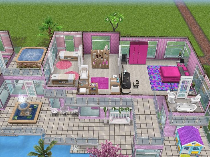 House 101 barbies dream house level 3 #sims #simsfreeplay #simshousedesign