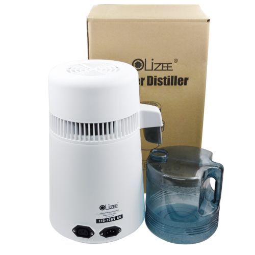 Olizee 4L Stainless Steel Pure Water Distiller Water Filter Distilled Water Stainless