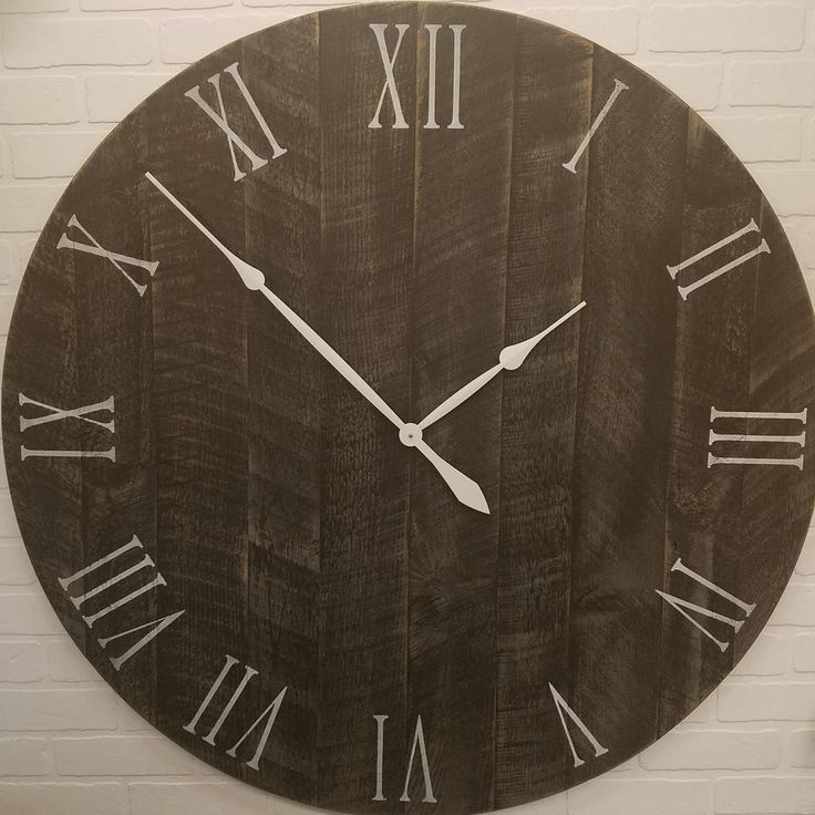 """42"""" Large Wall Clock Black over Grey"""
