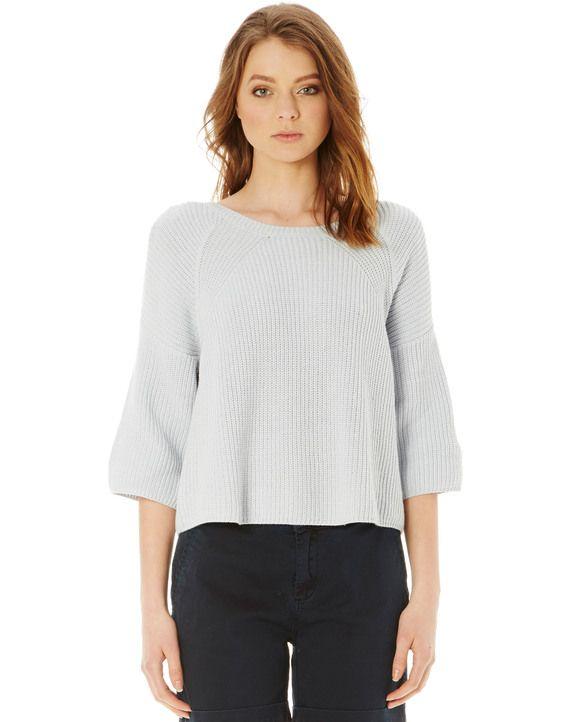 Slouchy 3/4 Sleeve Knit