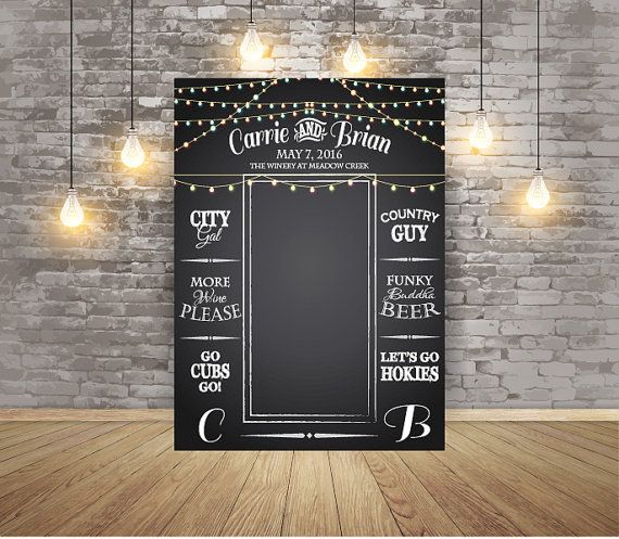 These Beautiful Chalkboard Wedding Photo Backdrops Will Make A Great Addition To Your Decor
