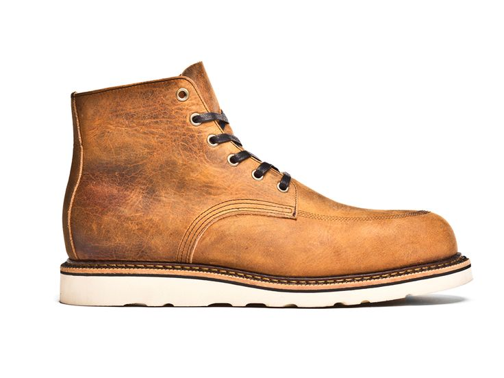 Broken Homme Steel Toe Davis Boot Leather Finish: Brown Trail Leather