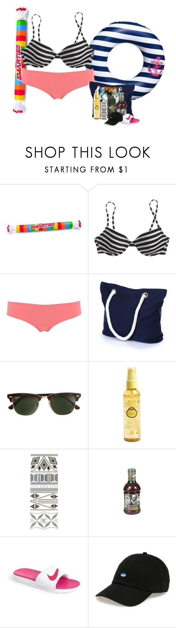 """""""Day 6: Pool"""" by meganjoleen ❤ liked on Polyvore featuring J.Crew, Calipige, Sun Bum, Flash Tattoos, NIKE, Southern Tide, women's clothing, women, female and woman"""