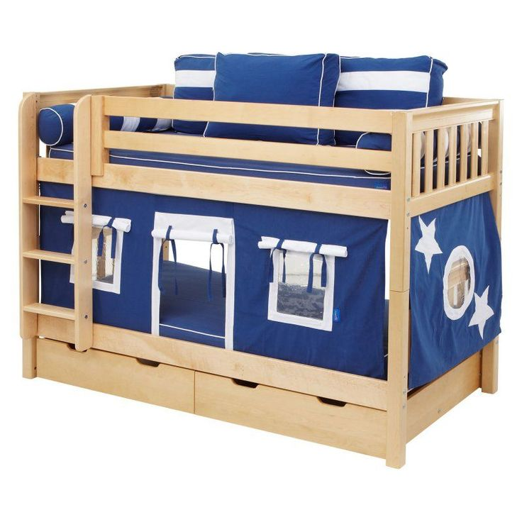 Hot Shot Boy Twin over Twin Tent Bunk Bed Blue & Red & Yellow Tent - MXTX147-5