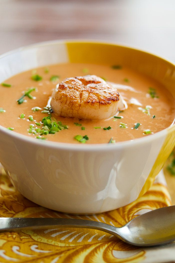 IRISH SCALLOP BISQUE - Luxurious flavors abound in this creamy bisque! With a beautifully seared scallop, it's perfect as an elegant starter course, or a light main course...