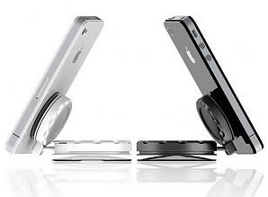 http://www.shopipad.nl/nl/jmj-company-mobile-mount.html De MobileMount is een universele houder /standaard voor vrijwel elk mobiel apparaat met een vlakke ondergrond, zoals smartphones en tablets. Bestaat uit twee twist-to-lock zuignappen en een kogelgewricht, dit unieke ontwerp zorgt voor een superieure zuigkracht en duurzaamheid.    Geschikt voor iPhones, iPads, iPods, Samsung Galaxy S1-2-3, Note, Tab etc. Zolang het maar een vlakke achterzijde heeft. Prijs €29,95
